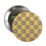 """Mod Retro Floral Print 2.25"""" Button"""