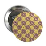 """Mod Retro Floral Print 2.25"""" Button (100 pack)"""