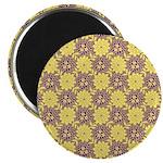 "Mod Retro Floral Print 2.25"" Magnet (10 pack)"