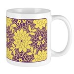 Mod Retro Floral Print Ceramic Coffee Mug