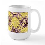 Mod Retro Floral Print Large Mug (15 oz)