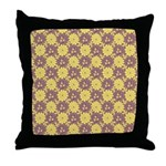 Mod Retro Floral Print Throw Pillow