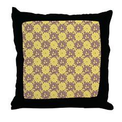 Mod Retro Floral Print Throw Pillow