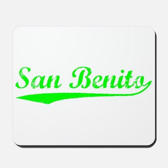 Vintage San Benito (Green) Mousepad