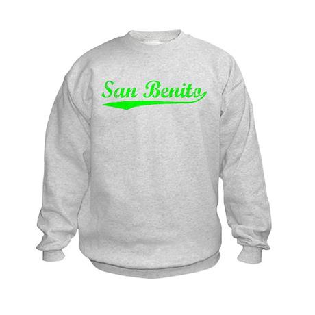 Vintage San Benito (Green) Kids Sweatshirt