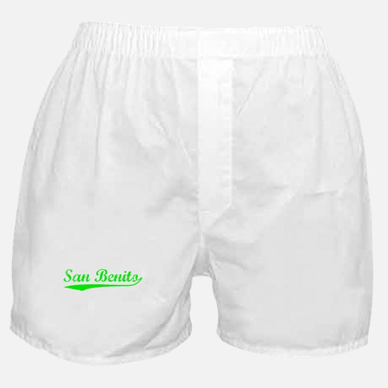 Vintage San Benito (Green) Boxer Shorts