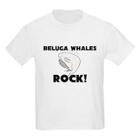 Beluga Whales Rock! Kids Light T-Shirt