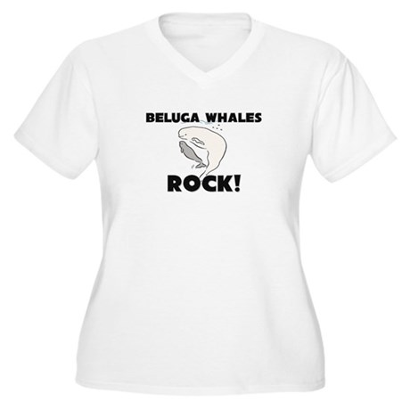 Beluga Whales Rock! Women's Plus Size V-Neck T-Shi