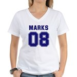 Marks 08 Women's V-Neck T-Shirt