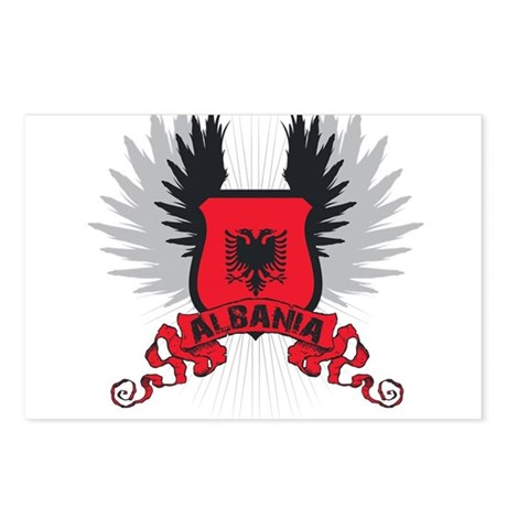 Albania Shield 2 Postcards (Package of 8)