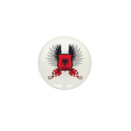 Albania Shield 2 Mini Button (100 pack)