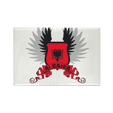 Albania Shield 2 Rectangle Magnet (10 pack)