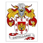 Castellanos Family Crest Small Poster