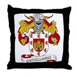 Castellanos Family Crest Throw Pillow