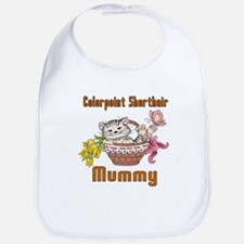 Colorpoint Shorthair Cat Designs Cotton Baby Bib