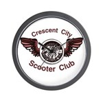 Crescent City Scooter Club Wall Clock