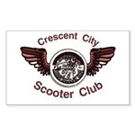 Crescent City Scooter Club Rectangle Sticker