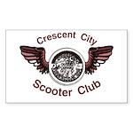 Crescent City Scooter Club Rectangle Sticker 10 p