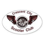Crescent City Scooter Club Oval Sticker