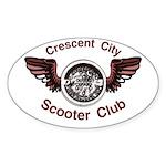 Crescent City Scooter Club Oval Sticker (10 pk)