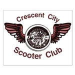 Crescent City Scooter Club Small Poster