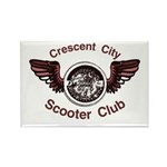 Crescent City Scooter Club Rectangle Magnet