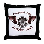 Crescent City Scooter Club Throw Pillow