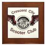 Crescent City Scooter Club Framed Tile