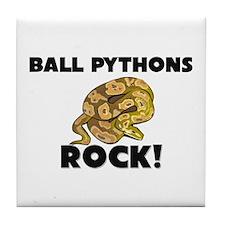 Ball Pythons Rock! Tile Coaster