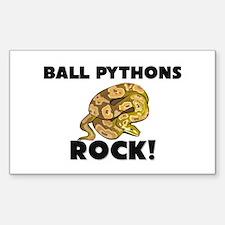 Ball Pythons Rock! Rectangle Decal