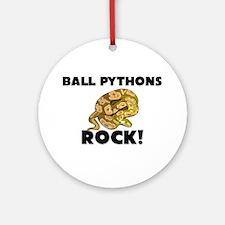 Ball Pythons Rock! Ornament (Round)