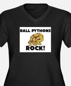 Ball Pythons Rock! Women's Plus Size V-Neck Dark T