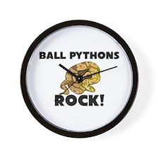Ball Pythons Rock! Wall Clock