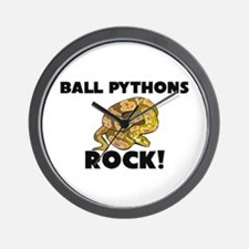 Ball Pythons Rock! Wall Clock