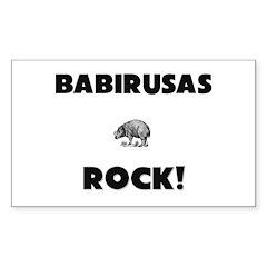 Babirusas Rock! Rectangle Decal
