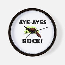 Aye-Ayes Rock! Wall Clock