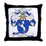 Catala Family Crest Throw Pillow