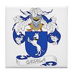Catala Family Crest Tile Coaster