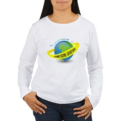Planet Earth Crime Scene Women's Long Sleeve T-Shi