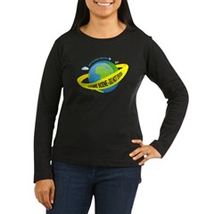 Planet Earth Crime Scene Women's Long Sleeve Dark