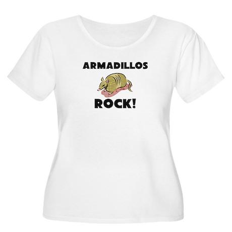 Armadillos Rock! Women's Plus Size Scoop Neck T-Sh