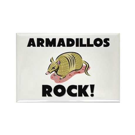 Armadillos Rock! Rectangle Magnet