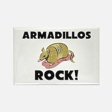 Armadillos Rock! Rectangle Magnet