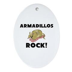 Armadillos Rock! Oval Ornament