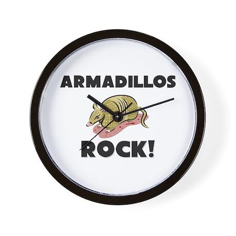 Armadillos Rock! Wall Clock