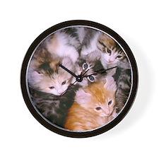 American Curl Kittens Wall Clock