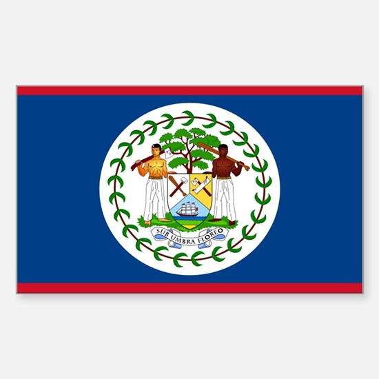 Belize Rectangle Decal