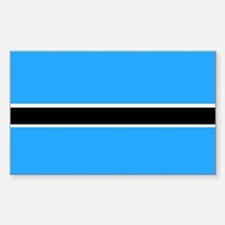 Botswana Rectangle Decal