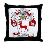 Cervera Family Crest Throw Pillow
