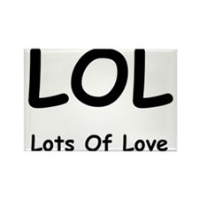 Lots of love Rectangle Magnet